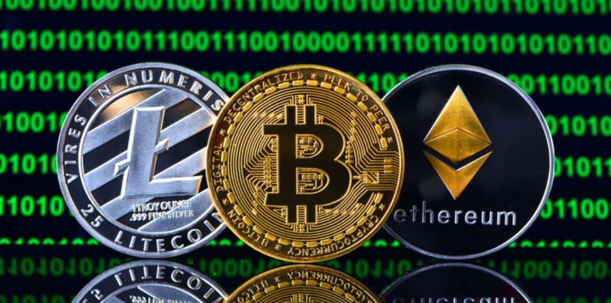 Image de plusieurs cryptomonnaies